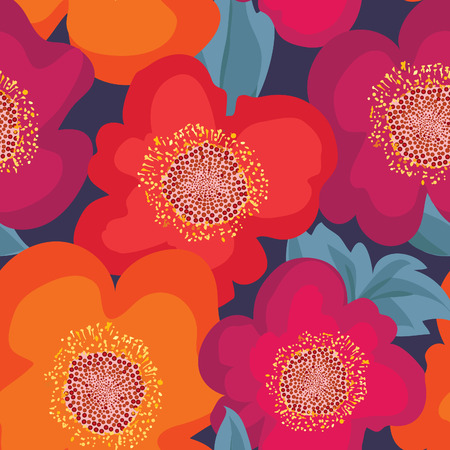 poppies: Floral seamless pattern. Flower background. Floral seamless texture with flowers.