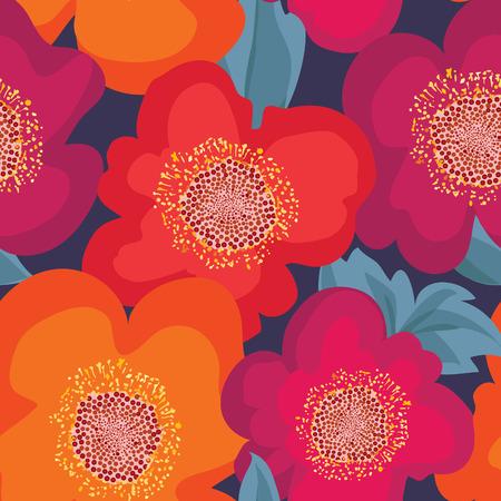 poppy: Modelo inconsútil floral. Fondo de la flor. Textura inconsútil floral con flores.