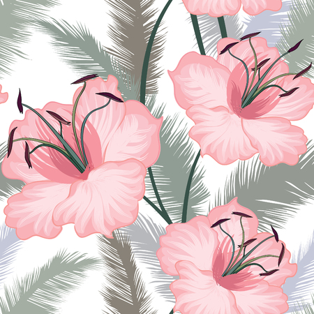 flower sketch: Floral seamless pattern. Flower background. Floral seamless texture with flowers. Flourish tiled wallpaper