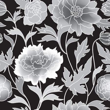 textil: estampado de flores fondo de florecimiento de baldosas. ornamento geométrico abstracto con fantásticas flores y hojas. País de las maravillas motivos ornamentales