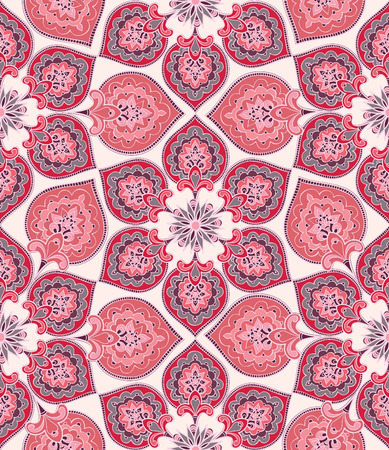 Floral seamless pattern. Flower background. Floral seamless texture with flowers. Flourish tiled oriental ethnic wallpaper Illustration