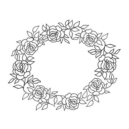 rosas blancas: Marco floral con flores de verano. ramo de flores con rosas y flores silvestres. Tarjeta de felicitación de la vendimia con las flores del Flourish frontera. Fondo floral.
