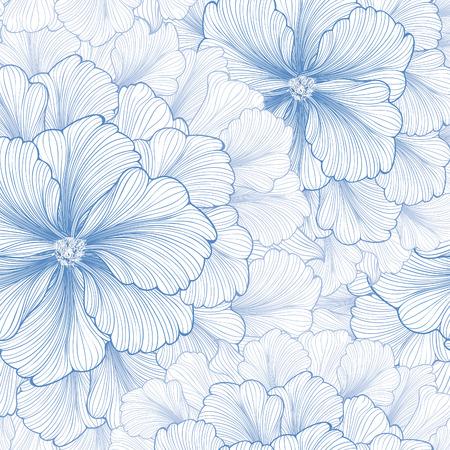 Floral background. Blumenmuster. Gedeihen nahtlose strukturierten Tapete für Grußkarte. Standard-Bild - 56968727