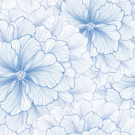 Floral background. Flower pattern. Flourish seamless textured wallpaper for greeting card. Vettoriali