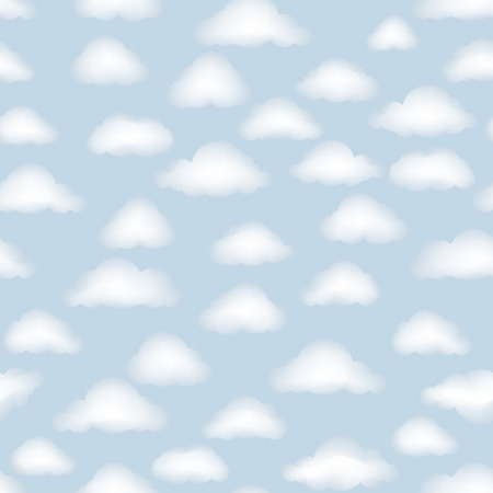 cloudy sky: Cloud pattern. Cloudy sky seamless backround