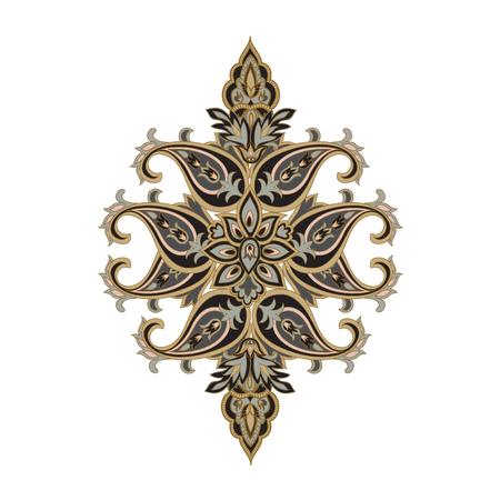 background kaleidoscope: Floral ornament background Oriental ethnic design element Abstract geometric pattern for kaleidoscope, medallion, yoga, indian, arabic decor