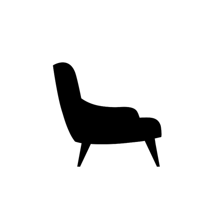 armchairs: Armchairs icon. Furniture silhouette.