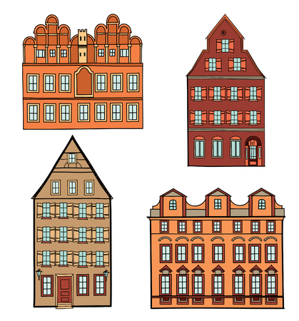 Excellent 7 366 European House Stock Vector Illustration And Royalty Free Inspirational Interior Design Netriciaus