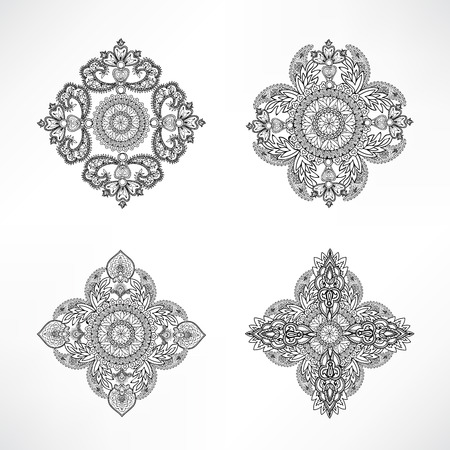 background kaleidoscope: Arabic ornament background Oriental ethnic mandala amulet Abstract floral geometric pattern Geometric circle element for holiday, kaleidoscope, medallion, indian, arabic design