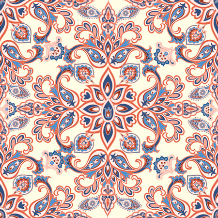 mendi: Abstract oriental floral seamless pattern. Flower geometric ornamental background. Floral ethnic tiled ornament with flowers.
