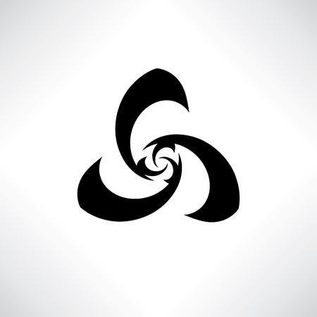 design design elemnt: Geometrical abstract stylish logo design elemnt. Vector stylzed flower insignia. Morden design of floral fan icon.