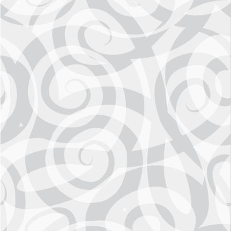 grey line: Abstract ornamental spiral seamless grey and white line pattern. Stylish fabric ornament 1960s style geometric background