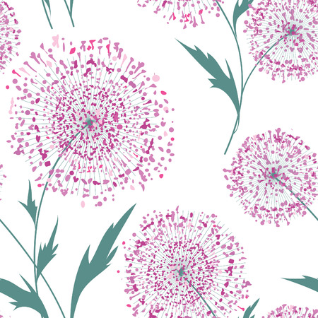 flower blooming: Flower bouquet seamless pattern. Floral frame. Summer flourish ornamental texture. Blooming flowers isolated on white background Illustration