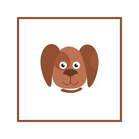 domestic animal: Dog head illustration Domestic animal cartoon isolated icon Illustration