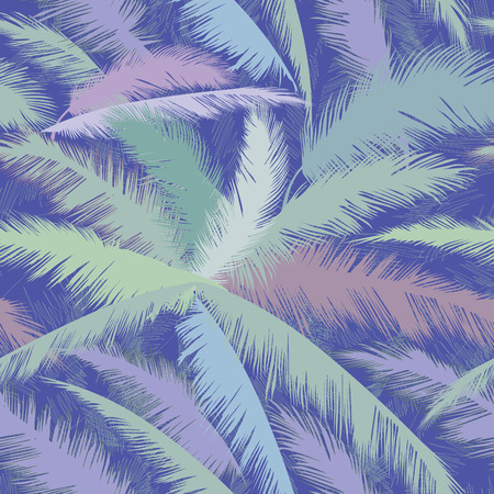 summer nature: Floral tropical palm leaves seamless pattern. Summer nature ornamental background