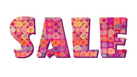 Sale banner. Big summer sale skicker over pink background Vettoriali