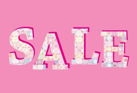 half price: Sale banner. Big summer sale skicker over pink background Illustration