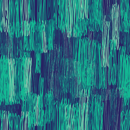 stripped background: Abstract geometric seamless pattern. Green floral pencil drawing line texture Stylish abstract ornamental  stripped background