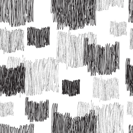 stripped background: Abstract geometric seamless pattern. Black and white pencil drawing line texture Stylish abstract ornamental  stripped background Illustration