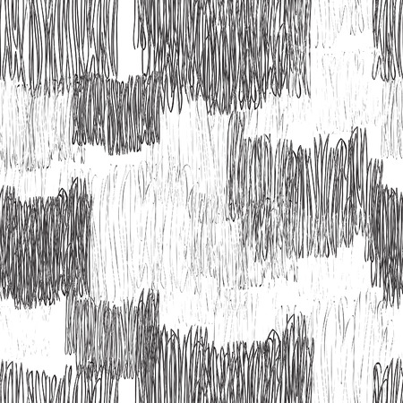 stripped: Abstract geometric seamless pattern. Black and white pencil drawing line texture Stylish abstract ornamental  stripped background Illustration