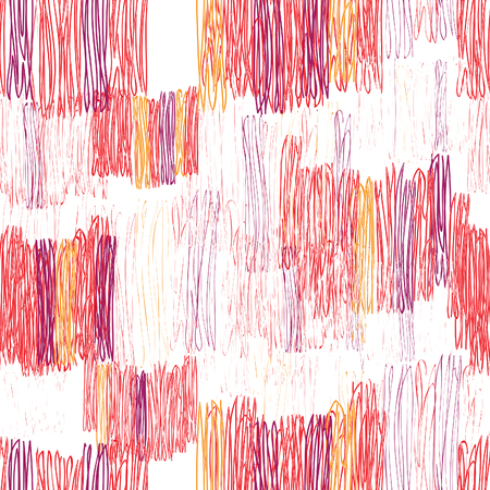 Abstract geometric seamless pattern. Color pencil drawing line texture Stylish abstract ornamental  stripped background Illustration