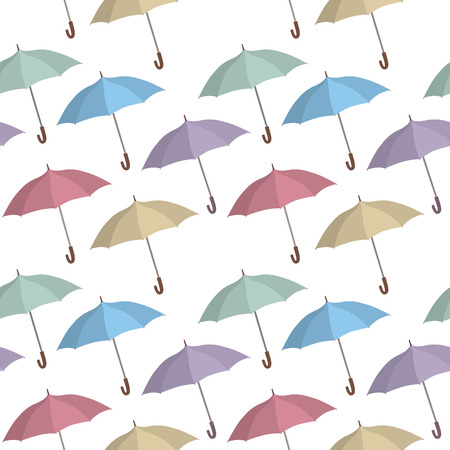 holliday: Umbrella seamless pattern. Rainy weather ornamental background