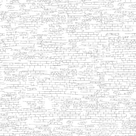 Ancient brick wall background. Shabby brick wall sketch pattern Architectural texture