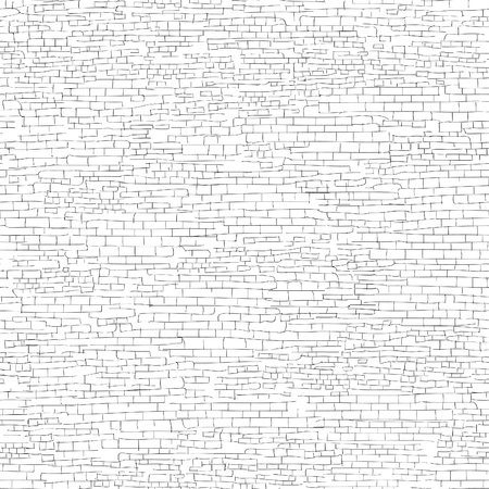 chipped: Ancient brick wall background. Shabby brick wall sketch pattern Architectural texture