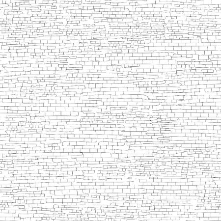 Oude bakstenen muur achtergrond. Shabby bakstenen muur schets patroon Architectural textuur Vector Illustratie