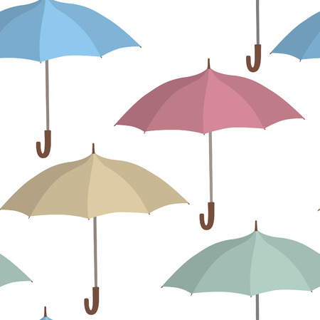 holliday: Umbrella seamless pattern. Rainy autumn concept background Illustration