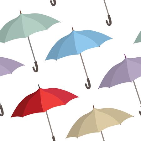 holliday: Umbrella seamless pattern. Rainy autumn concept background Illustration
