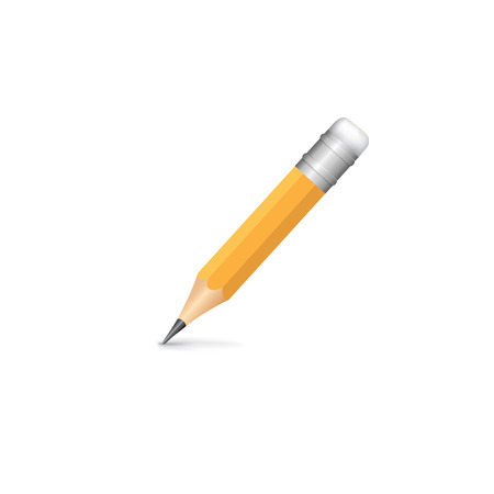 Pencil isolated on white background. Vector illustartion Illustration