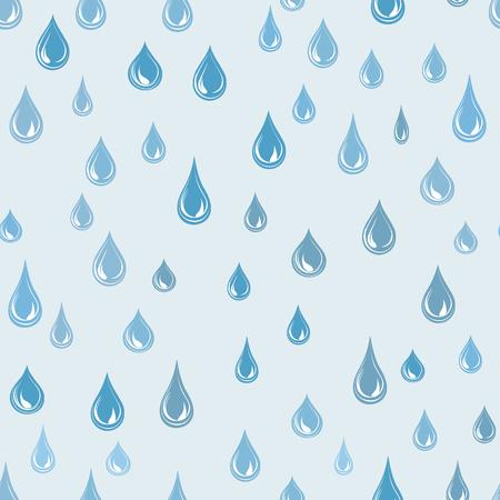 gotas de agua: fondo de la gota de agua. Temporal de lluvia sin patrón. ornamento tiempo lluvioso. Las gotas de agua fondo de pantalla de azulejos Vectores