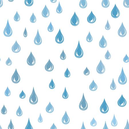 Water drops seamless pattern . Raindrop background. Rain texture.