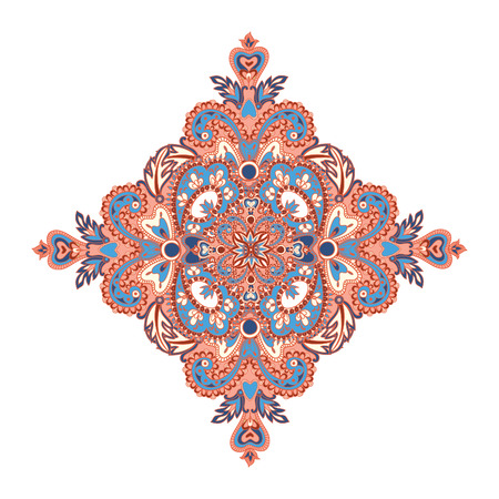 the renaissance: Floral pattern. Arabic ornament with fantastic flowers and leaves. Flourish tiled oriental ethnic background.  Wonderland motives of the paintings of ancient Indian fabric patterns.