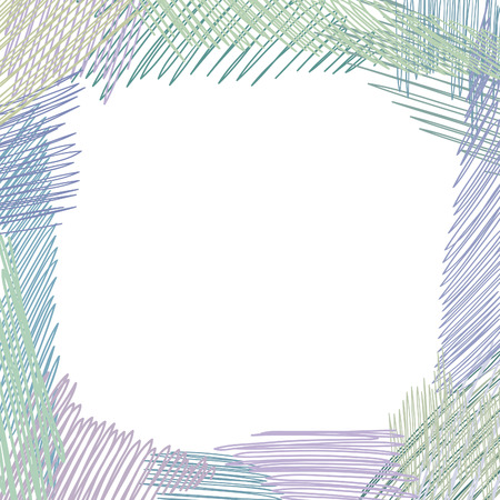 square shape: Pencil drawn doodle frame square shape. Abstract sketched background