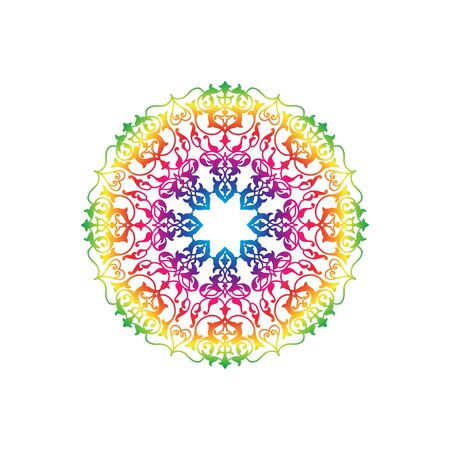 background kaleidoscope: Arabic ornament background Oriental ethnic multicolor mandala amulet Abstract floral geometric pattern Geometric circle element for holiday, kaleidoscope, medallion, yoga, indian, arabic design