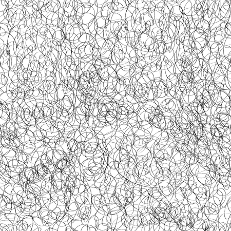 chaotic: Abstract seamless pattern. Scribble chaotic line doodle texture