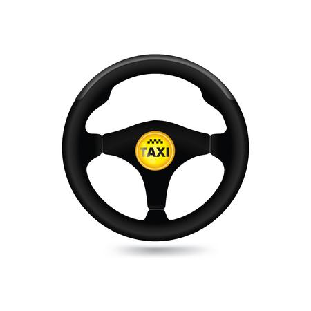 Taxi car sign. Car wheel icon. Vector illustration