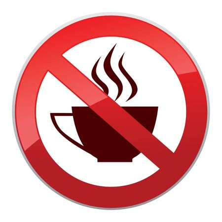 takeout: Hot drinks symbol. Drinks are not allowed. No coffee cup icon Take away or take-out tea beverage sign.