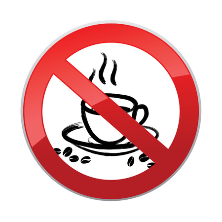 takeout: Drinks are not allowed. No coffee cup icon. Hot drinks symbol. Take away or take-out tea beverage sign.