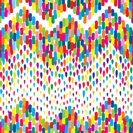 raindrops: Abstract water drop pattern. Zig-zag spot background. Abstract drop pattern. Seamless rainbow blot pattern