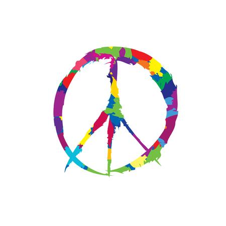 peace sign. Peace icon. Love & peace label.