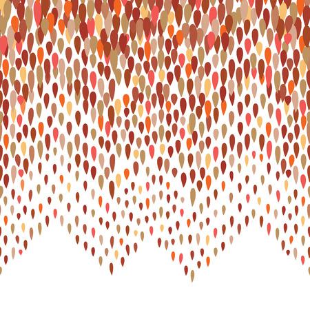 gotas de agua: patrón de gota de agua abstracta. Zigzag Fondo del punto. patrón extracto de la gota. patrón de transferencia de arco iris transparente Vectores