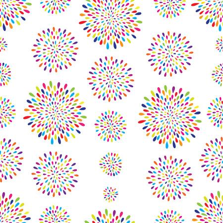 funky: Abstract pattern. Firework spot circle background. Abstract drop pattern. Seamless rainbow blot pattern