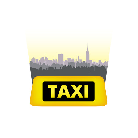 down town: Taxi service header. Taxi sign city background. Call taxi cityscape concept