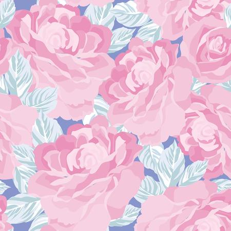 vintage patterns: Floral seamless pattern. Flower background. Floral tile ornamental texture with flowers. Spring flourish garden Illustration