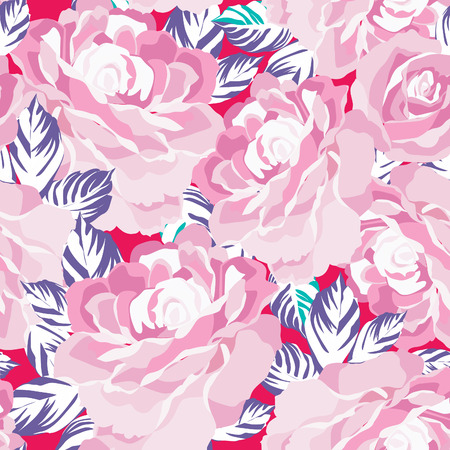flower patterns: Floral seamless pattern. Flower background. Floral tile ornamental texture with flowers. Spring flourish garden Illustration