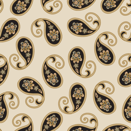 flower ornament: Floral seamless pattern. Arabic flower ornament background. Flourish ornamental texture
