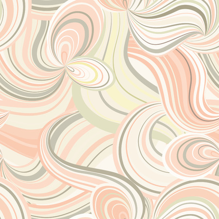wallpaper doodle: Abstract wave line seamless pattern. Grid swirl wavy background. Ornamental chaotic flow motion texture. Geometric floral doodle wallpaper